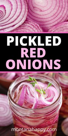 Quick Pickled Refrigerator Red Onions Recipe with apple cider vinegar. These crunch red onions are super easy to make and they add nice flavor to your tacos, avocado toast, salads, burritos… Red Onion Recipes, Apple Recipes, Avocado Recipes, Quick Refrigerator Pickles, Quick Pickled Red Onions, Homemade Pickles, Party Desserts, Fermented Foods, Canning Recipes