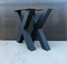 Industrial X Shape Metal Table legs 4x4 by SteelImpression on Etsy