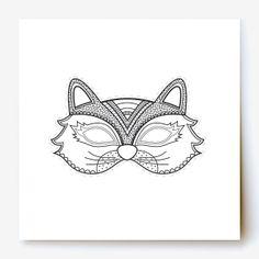 Cats Printable Coloring Masks, cat masks, kitty mask, kitten mask ...