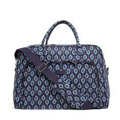 NWT-Vera-Bradley-Weekender-Travel-Carry-On-Bag-in-Marrakesh-Motifs-print