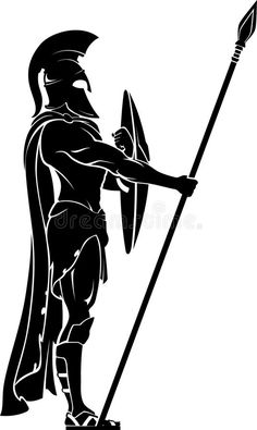 Illustration about Medieval Roman soldier silhouette physical stance. Illustration of side, military, armor - 47685367 Spartan Logo, Spartan Tattoo, Tattoo Guerreiro, Greek Soldier, Soldier 76, Female Soldier, Winter Soldier, Soldier Tattoo, Soldier Silhouette