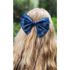 Beauxoxo Oversized Tartan Hair Bow in Green ($10) ❤ liked on Polyvore featuring accessories, hair accessories, multicolour, bow hair accessories, oversized hair bows, large hair bows and green hair accessories