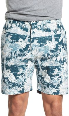 87a088a7599a6 Descendant Of Thieves Reversible Hawaiian Print Cotton Shorts