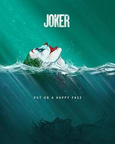 "Joaquin Phoenix's Joker poster art ""Put on a happy face"" Joker Batman, Joker Y Harley Quinn, Batman Comics, Math Comics, Dc Comics Art, Joaquin Phoenix, Joker Film, Der Joker, Joker Poster"