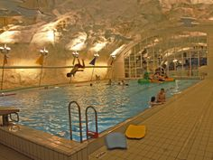 Grottebadet in Harsdat, Norway northernmost aquatic center...so awesome!
