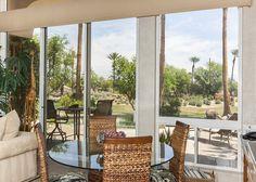 Golf Course Villa and Casita in La Quinta with Pool, Sleeps 7 - Turnkey Vacation Rental Palm Springs Vacation Rentals, Rental Property, Property Management, Golf Courses, Villa, Patio, Windows, Outdoor Decor, Home Decor