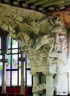 PAU GARGALLO. Cavalvada de les Valkíries, al Palau de la Música Catalana de Domènech i Muntaner