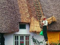 Thatched roofing in Ireland. Go to www.YourTravelVideos.com or just click on photo for home videos and much more on sites like this.