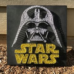 Star Wars Darth Vader String Art (Oringnal Design) - Star Wars Vader - Ideas of Star Wars Vader - Star Wars Darth Vader String Art by JBstringart on Etsy String Art Templates, String Art Patterns, Nail String Art, String Crafts, Darth Vader, Arte Linear, Anniversaire Star Wars, Star Wars Bedroom, Star Wars Models