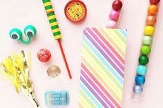 Rainbow Stripe Treat Bags 50% OFF  Brightly colored paper goodie bags. Perfect party supplies!