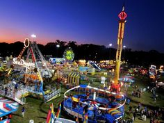A view over the SEMO District Fair; picture taken by Sarah Y and submitted to the Southeast Missourian.  Cape Girardeau, Missouri.