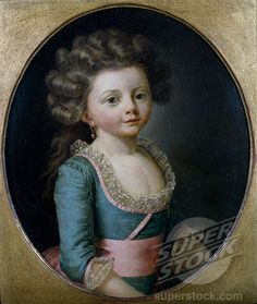 Mademoiselle Busseuil by Antoine Vestier, (1740-1824)