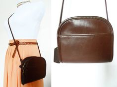 Vintage Coach Abby Bag 9017 Brown Mahogany Leather by hanniandmax, $69.00