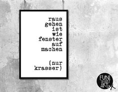 """KRASSE SACHE."" | typo poster | size L von FUNI SMART ART auf DaWanda.com"