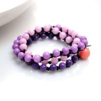 How to Make an Ombre Beaded Wrap Bracelet with Snake Knots