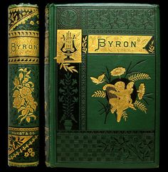 1883 LORD BYRON POEMS RARE ILLUSTRATED VICTORIAN GILT FINE BINDING ENGRAVINGS