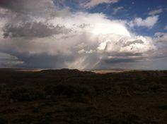 Thunder storm on the horizon