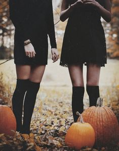 Witches and pumpkins