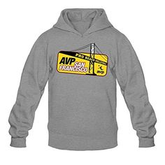 XIULUAN Men's Association Of Volleyball Professionals AVP Logo Hoodies L Dark Grey - Brought to you by Avarsha.com
