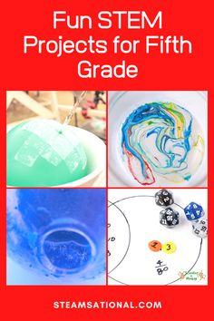 These easy STEM activities for grade are perfect for kids in fifth grade and teach the basics of science, technology, engineering, and math. 5th Grade Activities, Geometry Activities, Stem Activities, 5th Grade Science, Stem Projects, Science Projects, Science Experiments, Kindergarten Stem, Math Stem