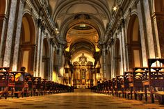 Buenos Aires Metropolitan Cathedral The Buenos Aires Metropolitan Cathedral is the main Catholic church in Buenos Aires, Argentina. It is located in the city center, overlooking Plaza de Mayo, on the corner of San Martín and Rivadavia streets, in the San Nicolás neighbourhood