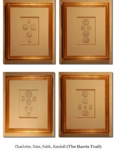 image of custom framed intaglios from quatrefoil design sold individually