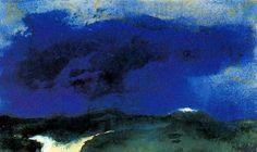 Mer verte avec Blue Cloud de Emile Nolde (1867-1956, Germany)