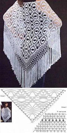 Exceptional Stitches Make a Crochet Hat Ideas. Extraordinary Stitches Make a Crochet Hat Ideas. Shawl Patterns, Crochet Stitches Patterns, Crochet Designs, Knitting Patterns, Crochet Shawls And Wraps, Crochet Scarves, Crochet Clothes, Crochet Shawl Diagram, Crochet Chart
