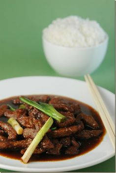 Mongolian Beef - uses common ingredients. I used this sauce as a base for a beef and veggie stir fry. The corn starch on the beef didn't work well so I just made a water-corn starch paste to add in at the end. Veggies included lots of broccoli, mushrooms, carrots, water chestnuts and green onions. I loved the overall finished dish!