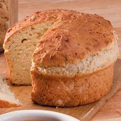 so good! but need to figure out proper temp and time bake; gooey half-baked center- honey-oat bread in round casserole pan