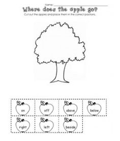 Apples Positional Words Math Ws