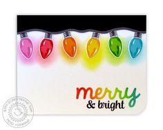 Stampin Up Christmas, Christmas Cards To Make, Xmas Cards, Handmade Christmas, Holiday Cards, Christmas Paper, Greeting Cards, Christmas Light Bulbs, Xmas Lights