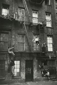 """howtoseewithoutacamera: """"by William Carter Kids playing, Lower East Side, New York City 1963 """""""