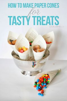 How To Make Easy Paper Cones For Holding Treats- Cute Party Idea! (scheduled via http://www.tailwindapp.com?utm_source=pinterest&utm_medium=twpin&utm_content=post663437&utm_campaign=scheduler_attribution)