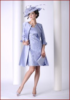 Mother Of The Bride Dress Knee Length With Jacket