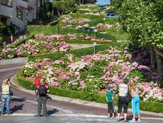 Lombard Street, San Francisco--  I've gone down it a couple times. do not miss it and be respectful of the neighborhood - do not leave any trash, etc!!!!