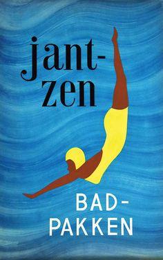 Bad Pakken  Jantzen gouache  Imp. vers 1950 Gouache / Vintage Gouache T.B.E. A - 72 x 45#art #auction #poster #affiche #print #paper #papier