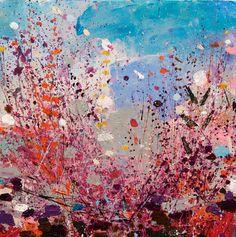 """Saatchi Art Artist Sandy Dooley; Painting, """"Winter Pink, Winter Grey II"""" #art"""