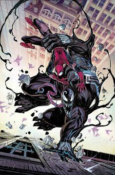 Venom vs Spider-Man by Adam Kubert
