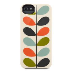 Orla Kiely: Multi Stem print semi-flexible case for iPhone 5, with gloss finish and camera lens cutout.