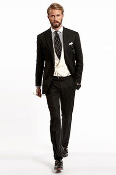 Hackett Three Piece Suit with Double Breasted Waistcoat in White ...