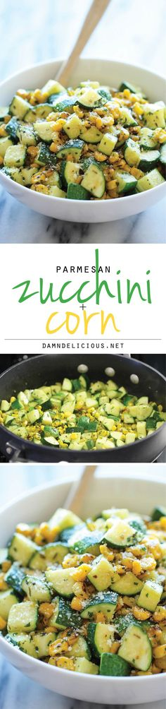 Parmesan Zucchini and Corn - A healthy 10 minute side dish to dress up any meal…