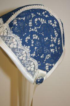 Bilder: Dåpsluer - www.toveaasland.com Kappor, Baby Bonnets, Sewing Patterns, Blue And White, Hats, Bebe, Pictures, Baby Beanies, Hat