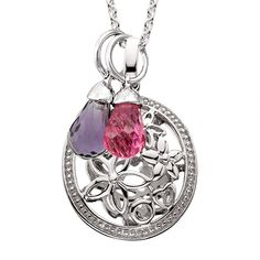 Beautiful Floral Pendant for mom!  Add your special Birthstones or initials to make it unique.