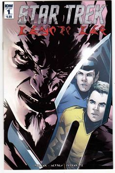 Star Trek Manifest Destiny - Klingon Language Edition (2016) Angel Hernandez Cover. Mike Johnson & Ryan Parrott Story. Angel Hernandez Pencils.