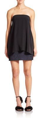 Tibi Kaya Strapless Jacquard Dress