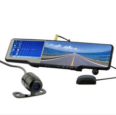 All-in-one Car Bluetooth Rearview Mirror Kit