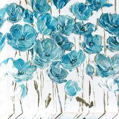 Dusty Blue Poppies Canvas Art Print   Kirklands
