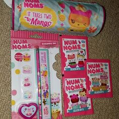 I received these super fantastic Num Noms items today in the mail from my wonderful friend in the UK. Thank you so much @collectible_alex !!! You are the best! I love the pencil case and the erasers set so much! I will be posting a video soon of the other goodies I received on youtube later this week. ❤❤. . #ilovenumnoms #numnomscollector #numnoms #stationery #pencilcase #ruler #pencil #erasers #eraser #kawaii #stickers #sticker #smellsodelicious
