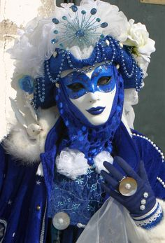 - Wonderful Blue and White Venice Carnival Mask Venice Carnival Costumes, Mardi Gras Carnival, Venetian Carnival Masks, Carnival Of Venice, Venetian Masquerade, Masquerade Party, Masquerade Masks, Venice Carnivale, Venice Mask